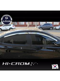 Aletas Bota Agua Cromadas  Hyundai Accent RB